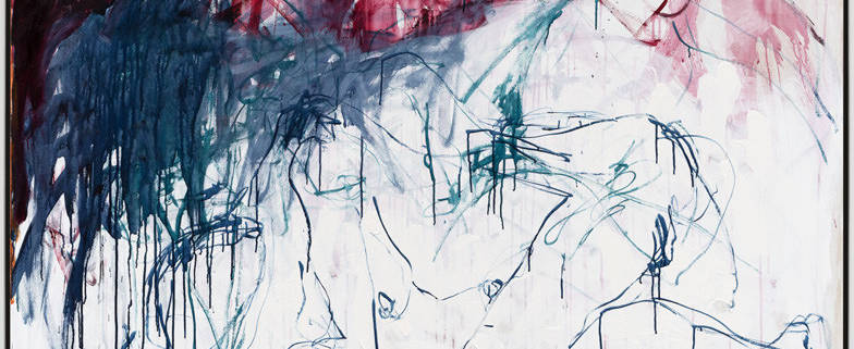 Tracey Emin It didnt stop I didnt stop 2019 Acrylic on canvas 152 x 183 5 x 3 7 cm Xavier Hufkens Tracey Emin All rights reserved DACS 2020